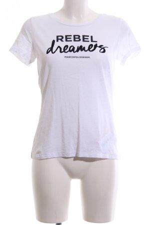 ❤️ Marc O'Polo T-Shirt weiß-schwarz Schriftzug gedruckt ❤️