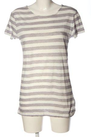 Marc O'Polo T-shirt blanc cassé-gris clair moucheté style décontracté