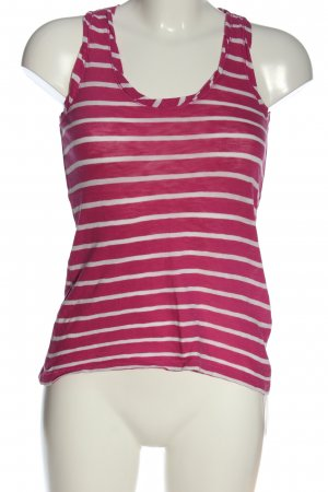 Marc O'Polo Tanktop roze-wit gestreept patroon casual uitstraling
