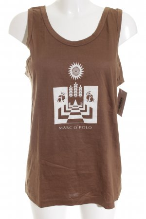 Marc O'Polo Tank Top light brown graphic pattern simple style