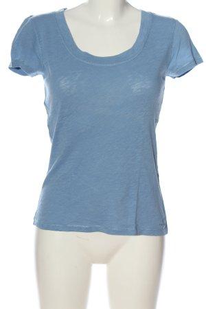 Marc O'Polo U-Boot-Shirt blau meliert Casual-Look