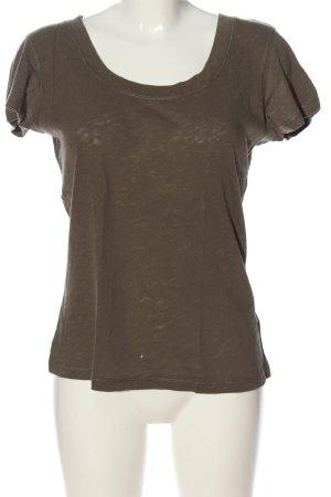 Marc O'Polo U-Boot-Shirt braun Casual-Look