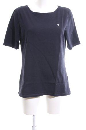 Marc O'Polo U-Boot-Shirt blau Motivdruck Casual-Look
