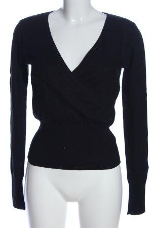 Marc O'Polo V-Ausschnitt-Pullover schwarz Casual-Look