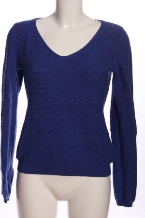 Marc O'Polo V-Ausschnitt-Pullover blau Casual-Look
