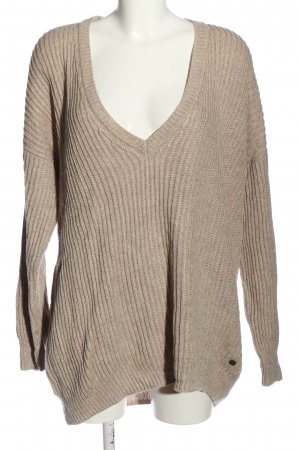 Marc O'Polo V-Ausschnitt-Pullover pink Zopfmuster Casual-Look