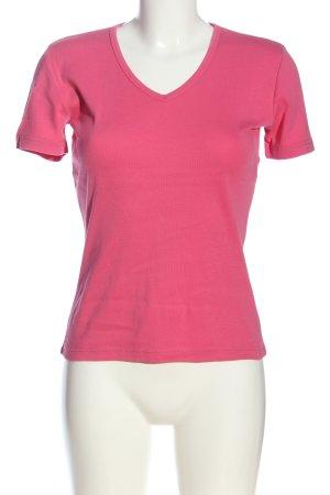 Marc O'Polo V-Ausschnitt-Shirt pink Casual-Look