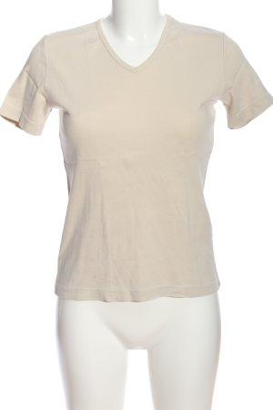 Marc O'Polo V-Ausschnitt-Shirt wollweiß Casual-Look
