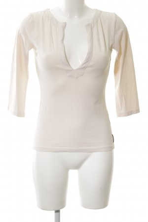 Marc O'Polo V-Ausschnitt-Shirt creme Casual-Look