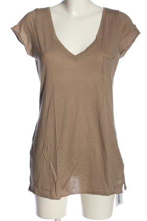 Marc O'Polo V-Ausschnitt-Shirt braun Casual-Look