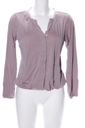 Marc O'Polo V-Ausschnitt-Shirt lila Casual-Look