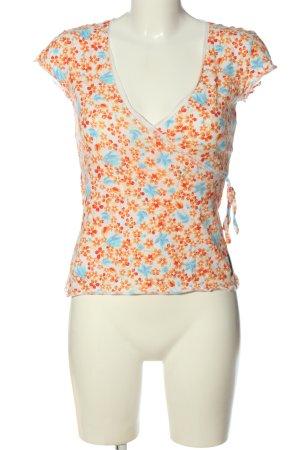 Marc O'Polo T-shirt col en V motif de fleur style décontracté