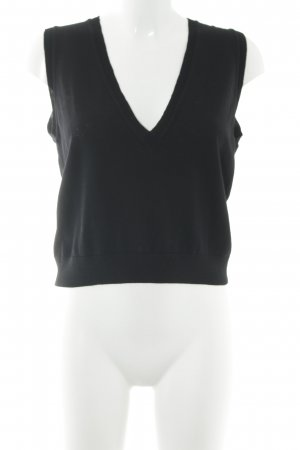 Marc O'Polo V-Ausschnitt-Shirt schwarz klassischer Stil