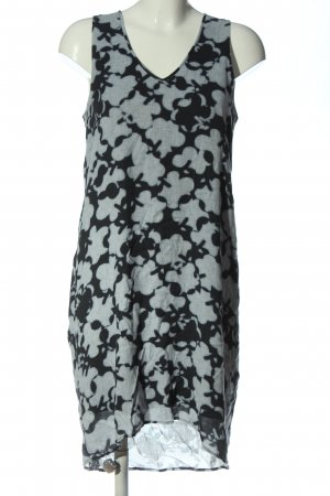 Marc O'Polo High Low Dress light grey-black abstract pattern casual look