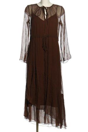 Marc O'Polo Vestido estilo flounce marrón elegante