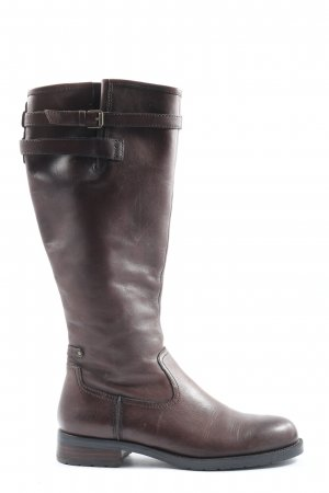 Marc O'Polo Weitschaftstiefel braun Casual-Look
