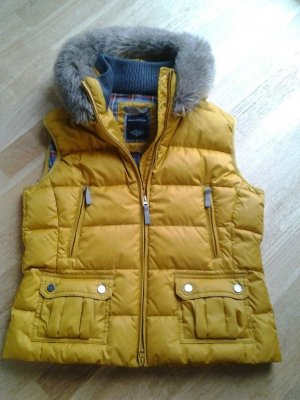 Marc O'Polo Quilted Gilet dark yellow