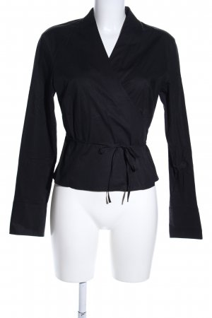 Marc O'Polo Wickel-Bluse schwarz Casual-Look