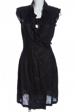 Marc O'Polo Kopertowa sukienka czarny W stylu biznesowym