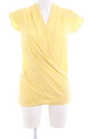 Marc O'Polo Camisa cruzada amarillo pálido look casual