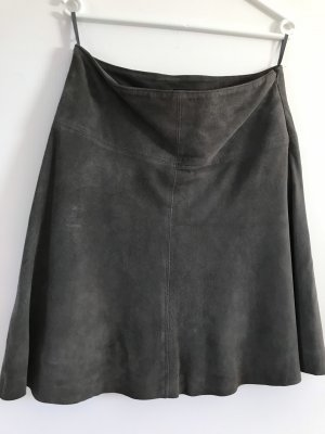 Marc O'Polo Leather Skirt grey leather