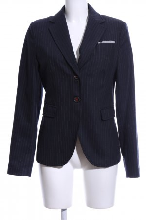 Marc O'Polo Woll-Blazer blau-weiß Streifenmuster Business-Look