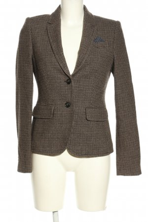 Marc O'Polo Woll-Blazer braun Karomuster Business-Look