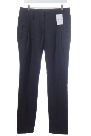 Marc O'Polo Pantalone di lana antracite puntinato stile classico