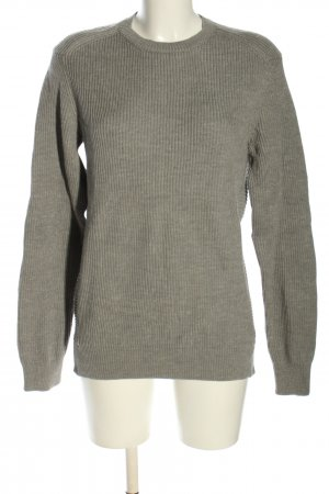 Marc O'Polo Wełniany sweter brązowy Warkoczowy wzór W stylu casual
