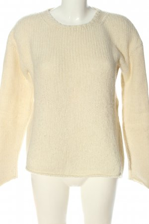 Marc O'Polo Maglione di lana crema stile casual
