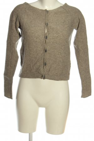 Marc O'Polo Wollpullover braun meliert Casual-Look