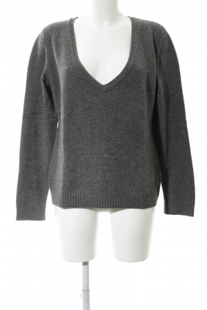 Marc O'Polo Wool Sweater light grey flecked casual look