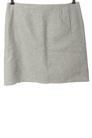 Marc O'Polo Wollen rok lichtgrijs gestippeld zakelijke stijl