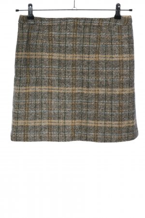 Marc O'Polo Falda de lana gris claro-crema estampado a cuadros look casual