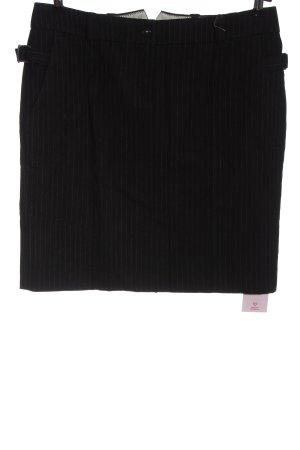 Marc O'Polo Wollen rok zwart gestreept patroon zakelijke stijl