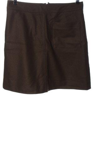 Marc O'Polo Wollen rok bruin zakelijke stijl