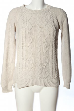 Marc O'Polo Cable Sweater natural white cable stitch casual look