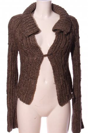 Marc O'Polo Cardigan brown cable stitch casual look