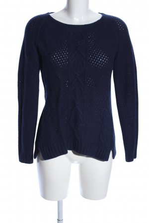 Marc O'Polo Zopfpullover blau Casual-Look