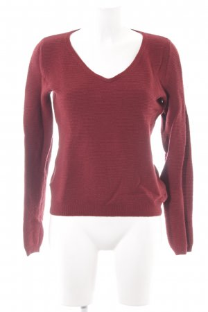 Marc O'Polo Zopfpullover dunkelrot Casual-Look