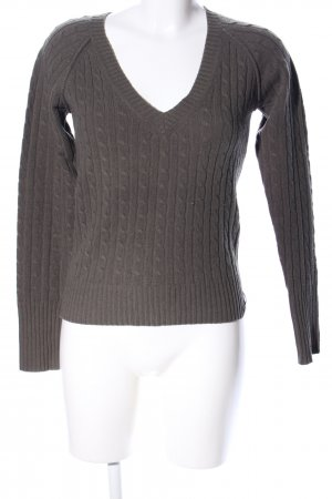 Marc O'Polo Zopfpullover braun Zopfmuster Business-Look