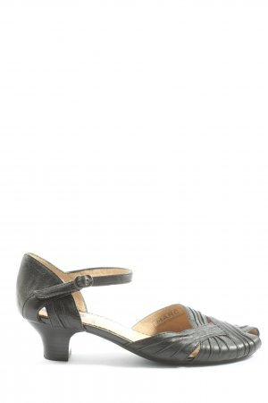 MARC Peeptoe Pumps schwarz Casual-Look