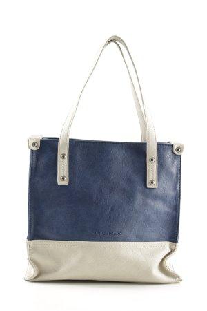 Marc Picard Mini sac bleu-crème style décontracté