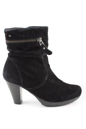 MARC Reißverschluss-Stiefeletten schwarz Casual-Look