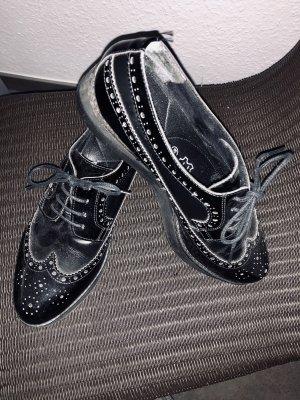 MARC Shoes Budapester czarny