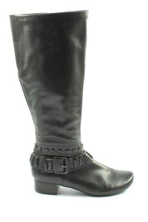 MARC Wide Calf Boots black casual look