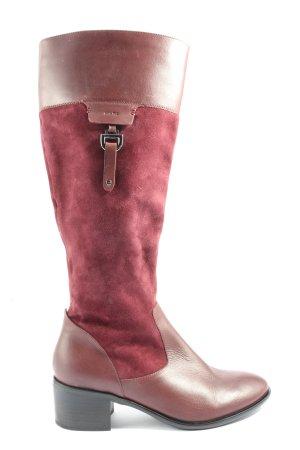 MARC Wide Calf Boots bordeaux-brown red elegant