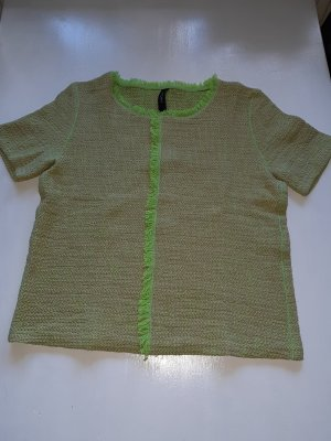 Marc Cain Short Sleeve Sweater beige-meadow green