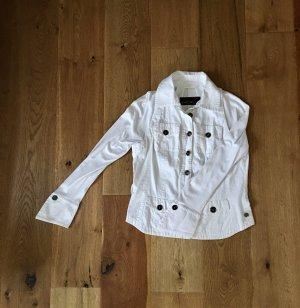 Marc Cain Veste chemisier blanc coton