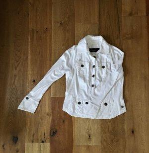 MARCCAIN Marynarka koszulowa biały Bawełna